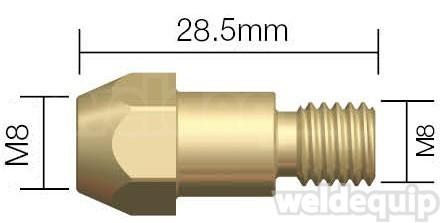Tip Adaptor M8-M8  ←