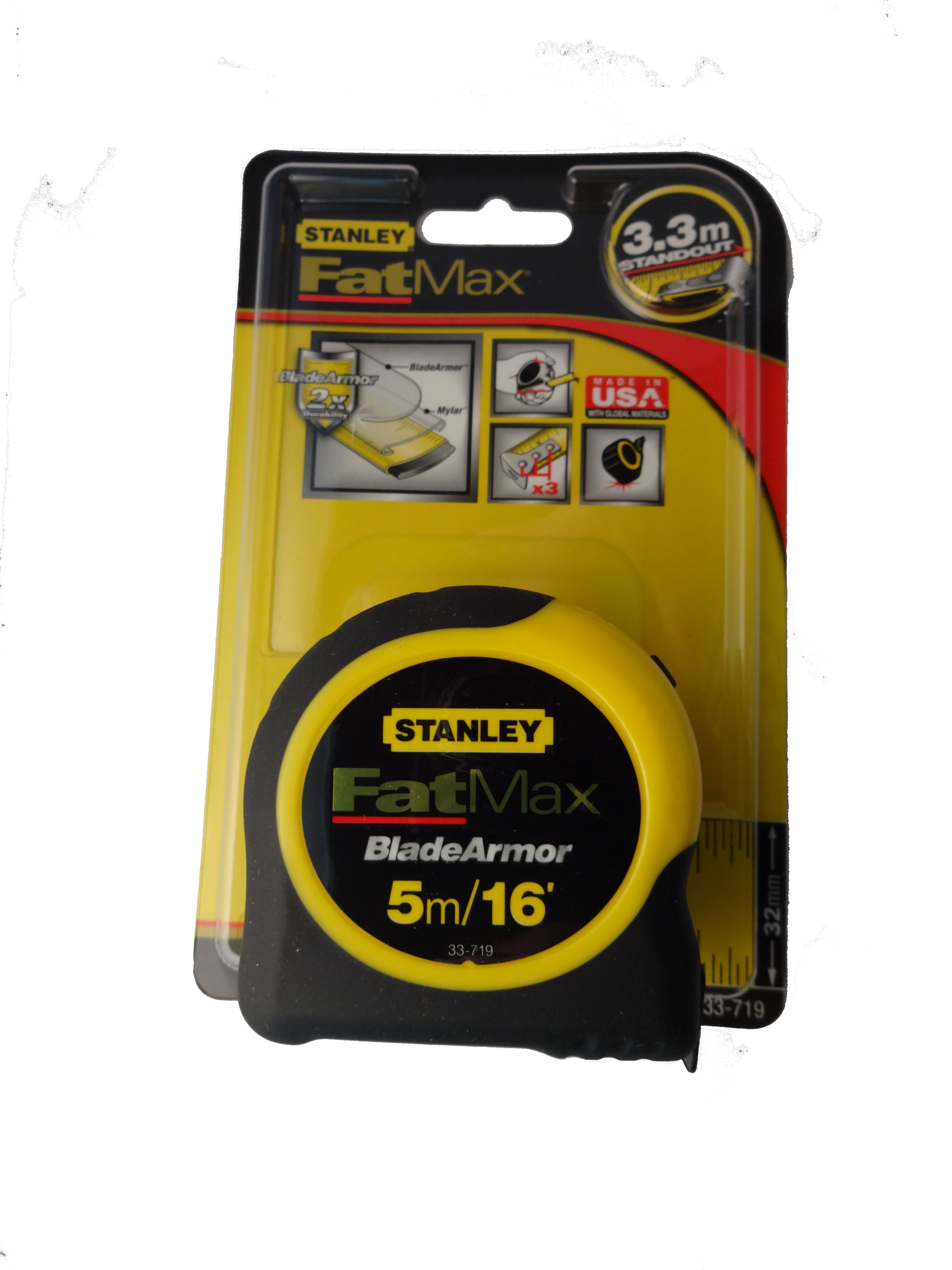 Stanley 174 Fat Max Measuring Tape Gasweld