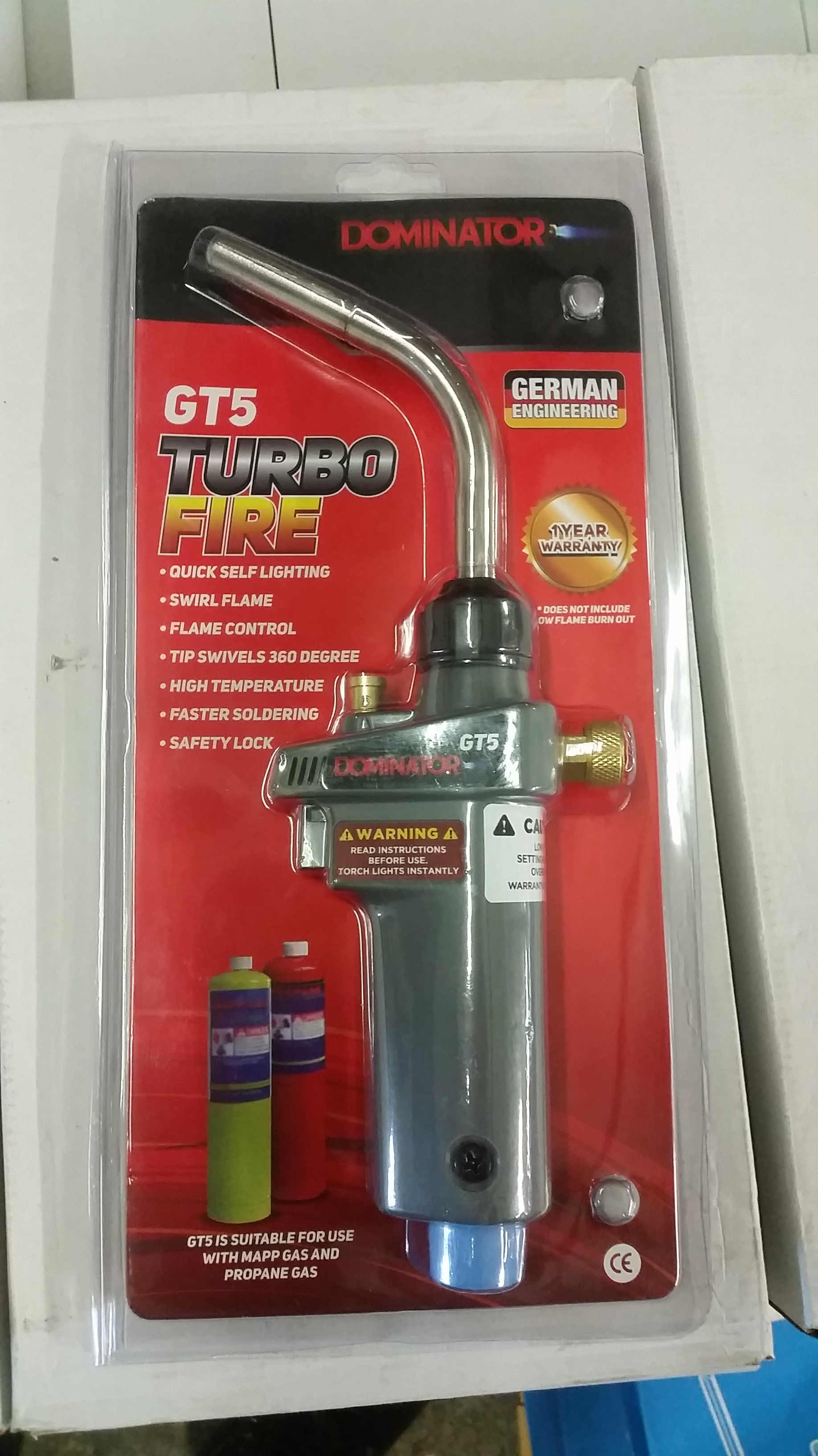 Superfire Auto Turbo Plumbers Torch For Mapp Gas Gasweld