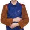 Weldas Lava Brown™ split cowleather welding sleeves (pair), 58 cm long